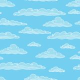 Seamless background with clouds - vector. Illustration Stock Photos