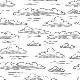 Seamless background with clouds - vector. Illustration Stock Images