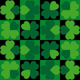 Seamless background Clover Stock Photography