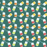 Seamless background with cocktails Stock Images