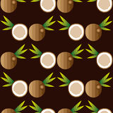 Seamless background with coconuts Royalty Free Stock Photography