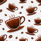 Seamless background of coffee Royalty Free Stock Photo
