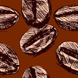 Seamless background with coffee beans. Seamless background with hand sketch coffee beans Royalty Free Stock Photography