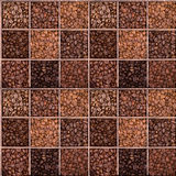Seamless background of coffee beans Stock Photos