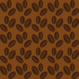 Seamless background with coffee beans. Royalty Free Stock Photos