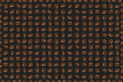 Seamless background with coffee beans. Vector illustrations Royalty Free Stock Image