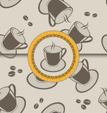 Seamless background with coffee cups Royalty Free Stock Photo