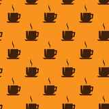 Seamless background with coffee cups Stock Image