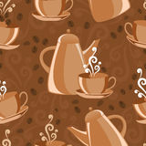 Seamless background coffee theme royalty free illustration