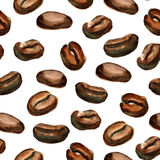 Seamless background with coffee Royalty Free Stock Photos