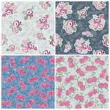 Seamless background Collection - Flowers Stock Image
