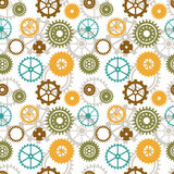 Seamless background of color gear wheels Stock Photos