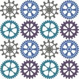 Seamless background of color gear wheels. Vector illustration. Stock Images
