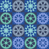 Seamless background of color gear wheels. Vector illustration. Royalty Free Stock Image