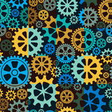 Seamless background of color gear wheels. Vector illustration. Royalty Free Stock Photos