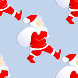 Seamless background with color Santa Claus royalty free illustration