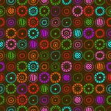 Seamless background with colored abstract elements Royalty Free Stock Photos