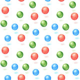 Seamless background colored balls Stock Photos