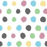 Seamless background with colored circles. Abstract Stock Image