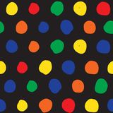 Seamless background with colored circles. Abstract Royalty Free Stock Photography