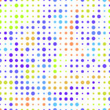 Seamless background with colored dots on a white background. The illusion of movement Royalty Free Stock Photography