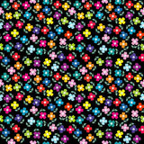 Seamless background with colored flowers Stock Photos