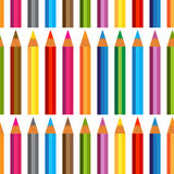 Seamless background with Colored pencils. Royalty Free Stock Photography