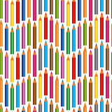 Seamless background with Colored pencils. Stock Images