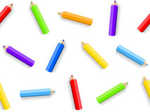 Seamless background of colored pencils. Vector illustration Royalty Free Stock Photos
