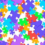 Seamless background colored puzzles royalty free illustration