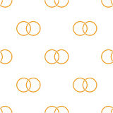 Seamless background with colored rings. Illustration Royalty Free Stock Photography