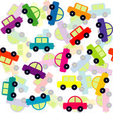 Seamless background with colored toy cars Royalty Free Stock Photos