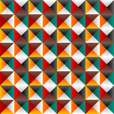 Seamless background with colored triangles. Abstract illustration Royalty Free Stock Photos