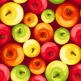 Seamless background with colorful apples. Stock Images