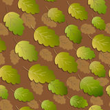 Seamless background with colorful autumn leaves falling oak. Vector illustration Vector Illustration