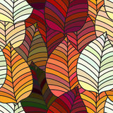 Seamless background with colorful autumn leaves. Repeating texture with floral motif. Vector illustration. Stock Photography