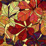 Seamless background with colorful autumn leaves. Repeating texture with floral motif. Vector illustration. Royalty Free Stock Photo