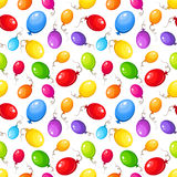 Seamless background with colorful balloons. Vector illustration. Vector seamless pattern with colorful balloons on a white background Stock Photos