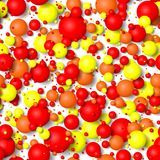 Seamless background of colorful bubbles. 3d effect balls bright colorful seamless background Stock Image