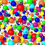 Seamless background of colorful bubbles. 3d effect balls bright colorful seamless background Stock Photo