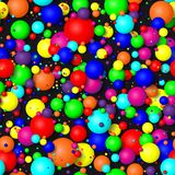 Seamless background of colorful bubbles. 3d effect balls bright colorful seamless background Royalty Free Stock Image