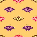 Seamless background of colorful butterflies. Stock Photography