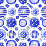 Seamless background with colorful buttons. vector illustration