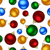 Seamless background with colorful Christmas balls. Stock Image