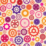 Seamless background with colorful cogwheels Royalty Free Stock Photography