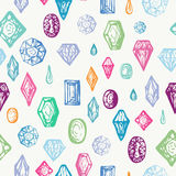 Seamless Background With Colorful Diamonds Royalty Free Stock Photography