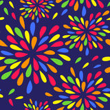 Seamless background with colorful drops. Royalty Free Stock Images