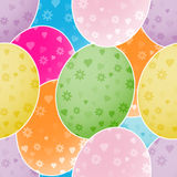 Seamless background with colorful Easter eggs. Illustration with multi-colored Easter eggs for background Royalty Free Stock Photos