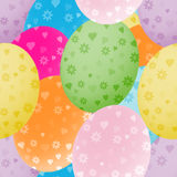 Seamless background with colorful Easter eggs. Illustration with multi-colored Easter eggs for background Stock Photography