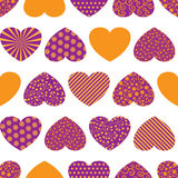 Seamless background with colorful hearts Royalty Free Stock Image